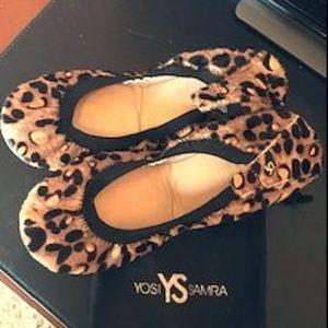 Yosi Samra Samara Leopard Calf Hair Flats